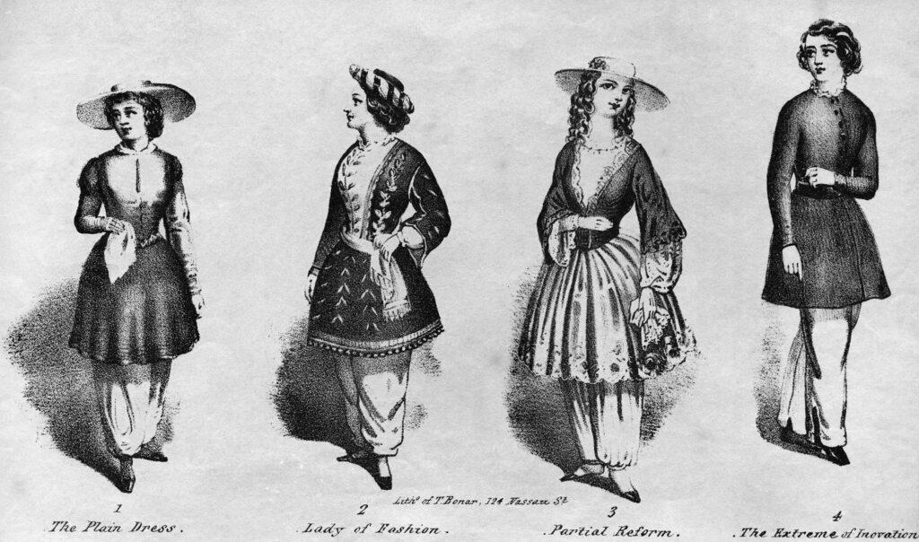 bloomers 1851 design Elizabeth Miller